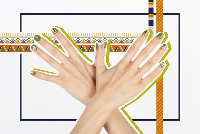 Tribal Beat Nail Wraps / Designer Nail Stickers ( 22pcs)
