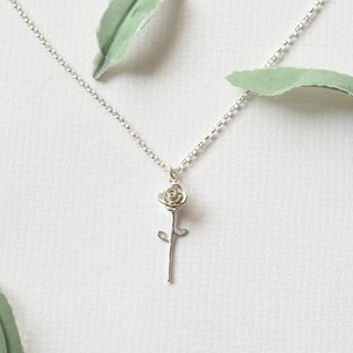 Small clavicle between the fresh - small roses (silver necklace silverware) :: C% handmade jewelry ::