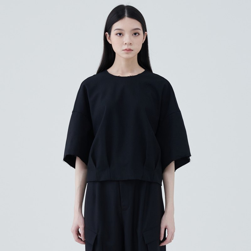 TRAN - Double-sided loose blouse