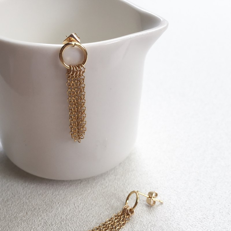 new year / gold tassel earrings