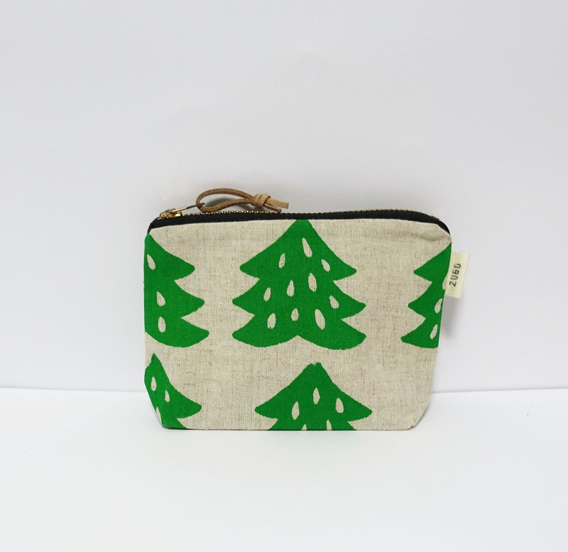 Screen printing  wallet  Chinese fir-green