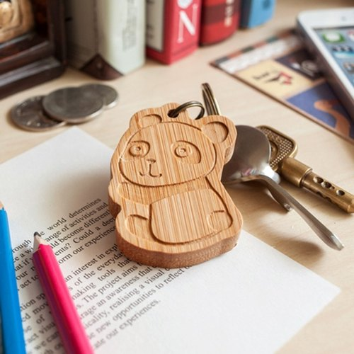 [Custom gift] [bear family] black bear 7pupu, panda round aberdeen, white bear obediently / / key ring - single with lettering / family portrait