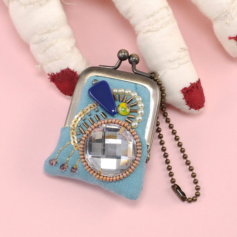 tiny purse for rings and pill,coins,accessories,bag charm purse blue purse 22
