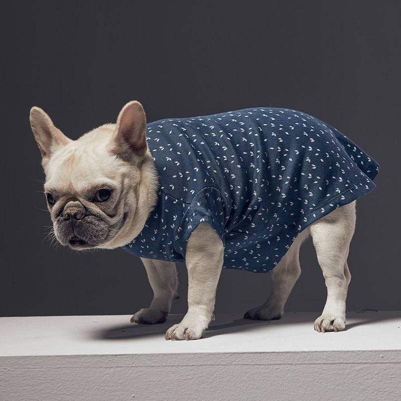 Small V-neck Printed Pet Clothes - Wide Edition