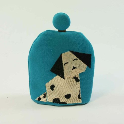 Embroidered bell-shaped key fob 02-- dog