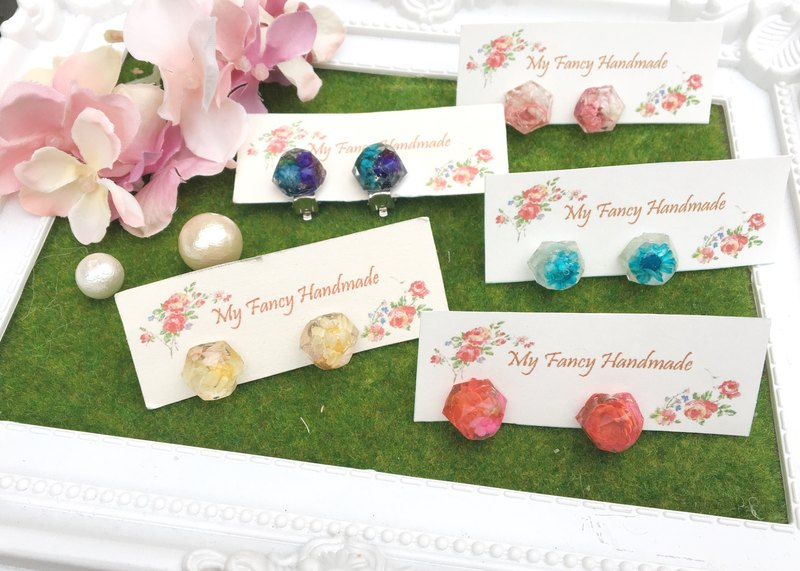 *My Fancy Handmade*Gemstone Flower Earrings
