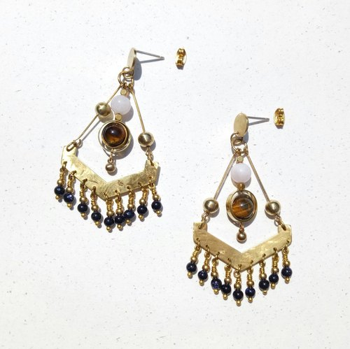 <Vortex Eye> National Wind Earrings 925 Tremella Needle / Brass Ear Clips