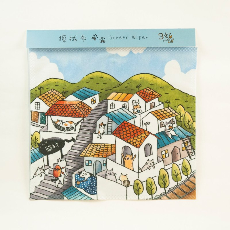 Three cat shop ~ monkey crab village million wipe cloth