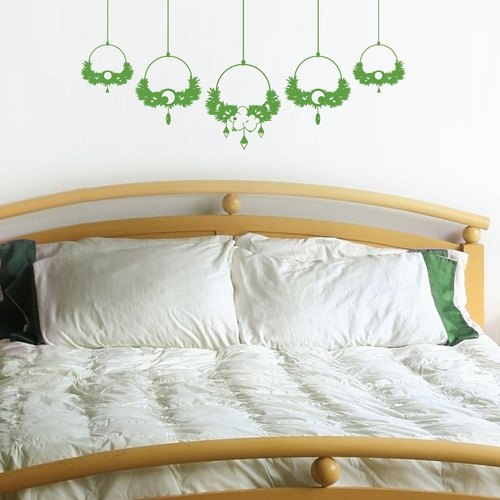 """Smart Design"" Creative ◆ Seamless wall stickers blessed garden 8 color options"