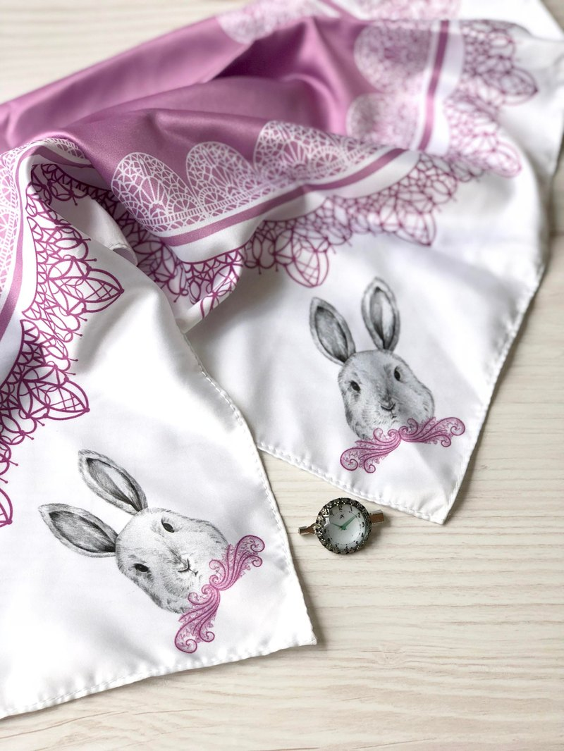 adc | party animal | purple | rabbit | imitation scarf (small)
