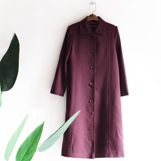 Heishan Mountain - Wakayama Dark purple gold line deduction neat cut sheep antique fur coat wool fur vintage wool vintage overcoat