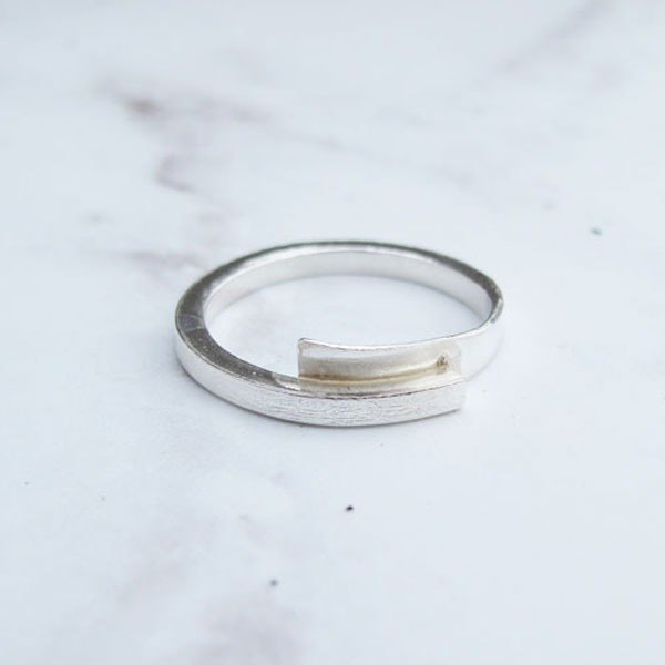 Big staff Taipa [manual × custom DIY] overlapping sterling silver male ring can come to the store DIY can be mastered