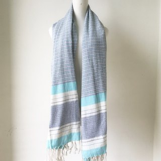 Turkish handmade organic cotton towel Atmaca (blue)