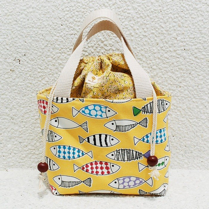Color small fish bundle bag _ yellow / food bag