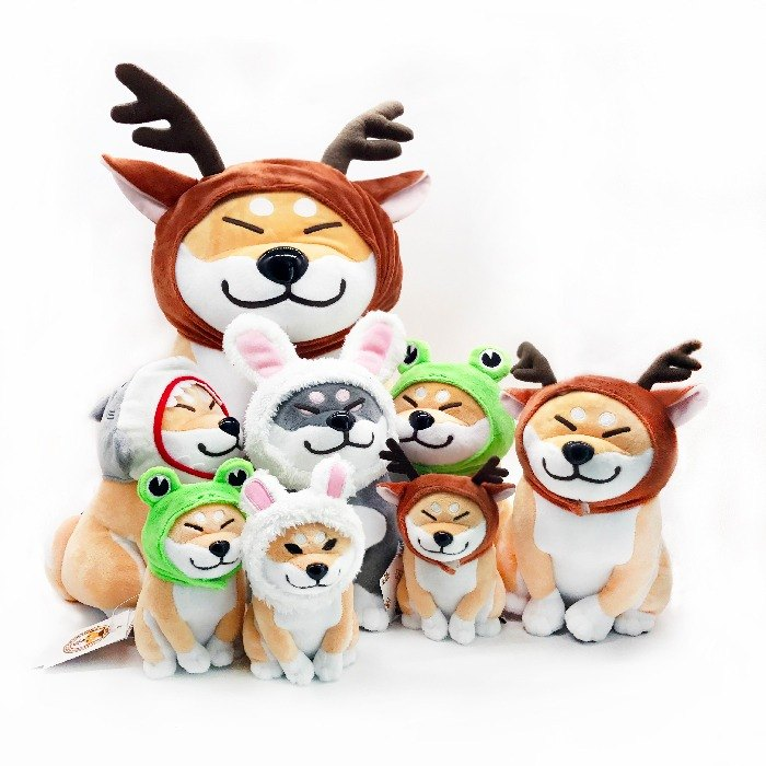Wharf 2017 Shiba Inu doll small animal hedging series medium doll headdress