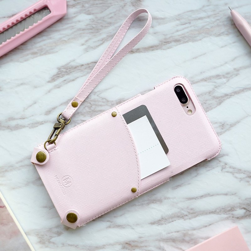 Posh | Soft PU Leather Pouch with strap for iPhone 7/8 Plus