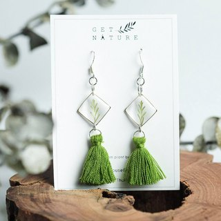 Fern square earrings (silver 925)