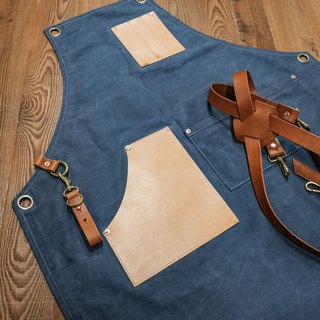 Apron Custom Work Apron Waterproof Double Layer Wax / Leather Embroidered Printing / Ji.co
