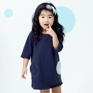 Ángeles - Two Round Pocket Shape Short Dress
