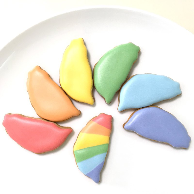 Rainbow Taiwan Sugar Cookies 7 Pieces