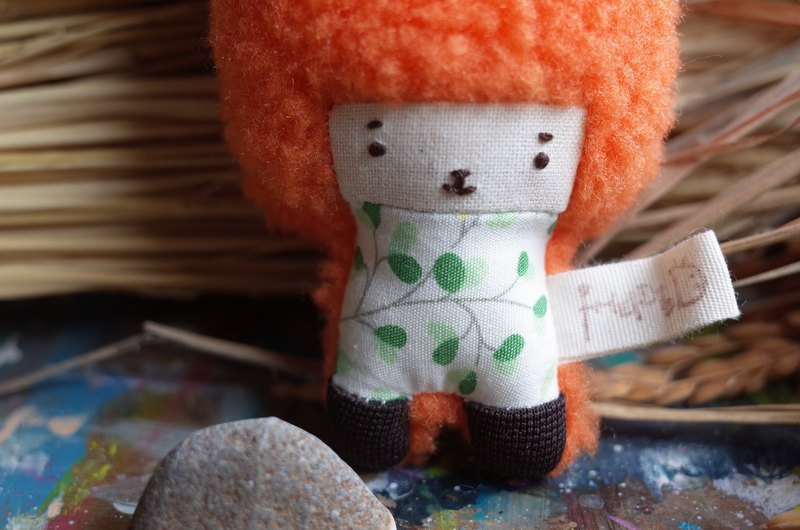 Dora rabbit - orange hair -192 small green leaves
