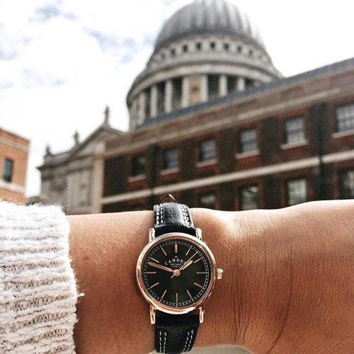 Camden Watch | NO24 Series Pure British descent rose gold fashion taste leather watch