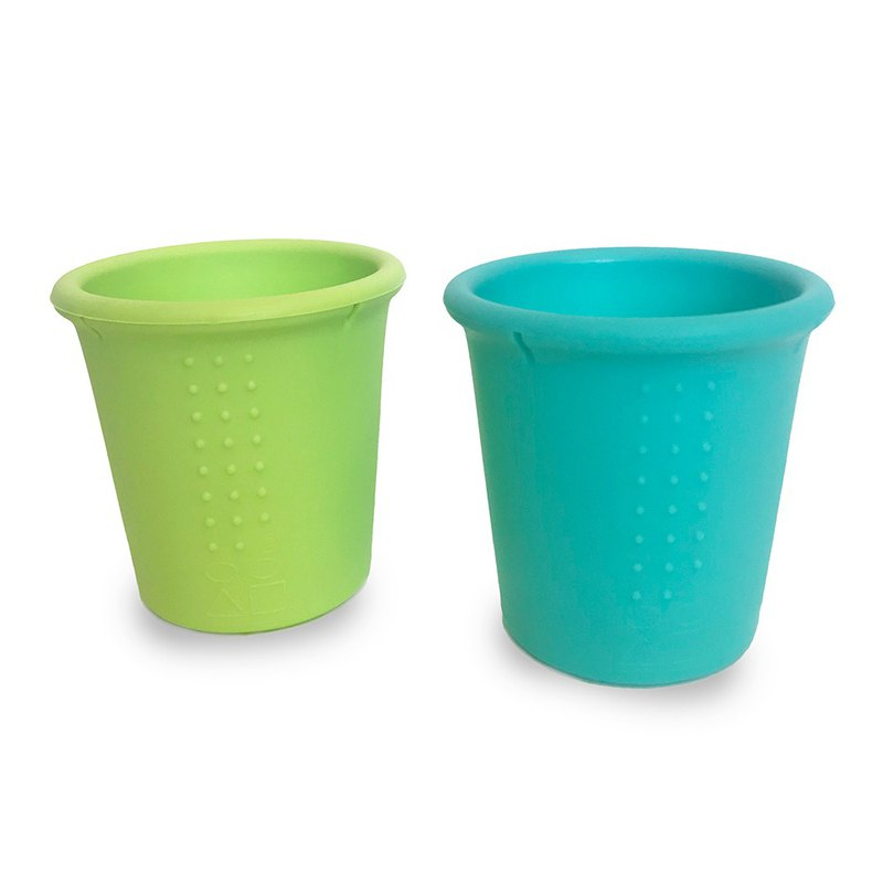 American gosili/silikids jelly tableware 8oz gelatin cup two into the sea blue / lime green