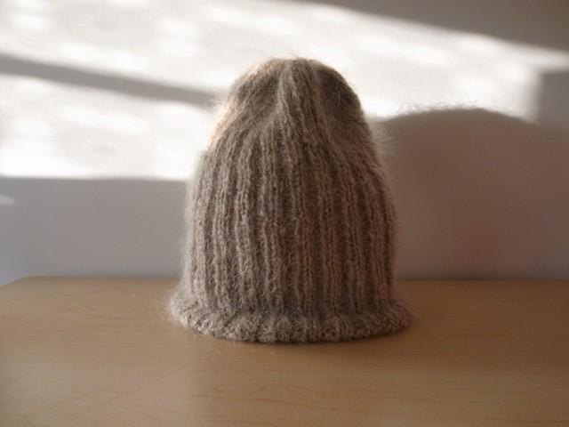 Mohair's ribbed knitted hat / phone knitted hat Made-to-order production