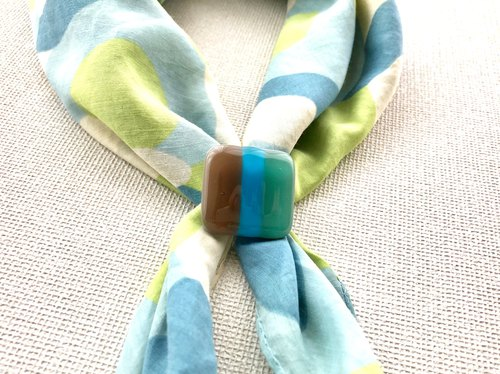 Free shipping glass scarf tricolore 1