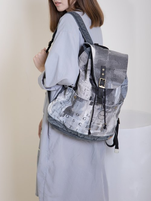 Drawstring Backpack Grey