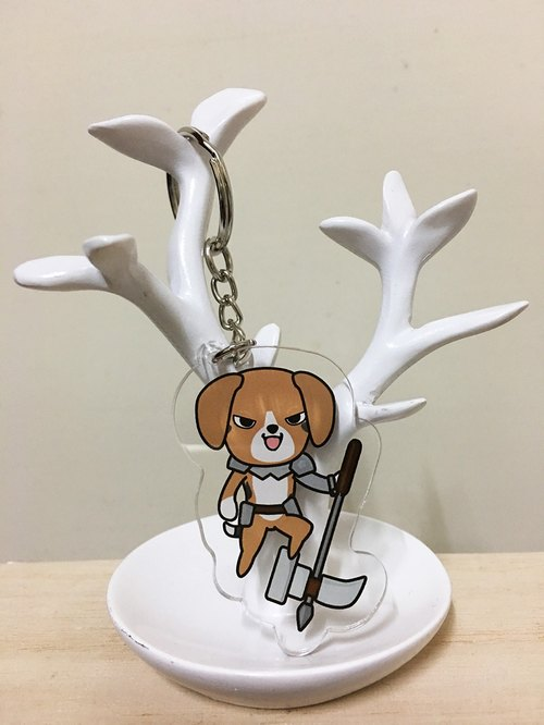 PuppyLove early heart illustration hairy child soldiers associated Meng [Beagle] key ring
