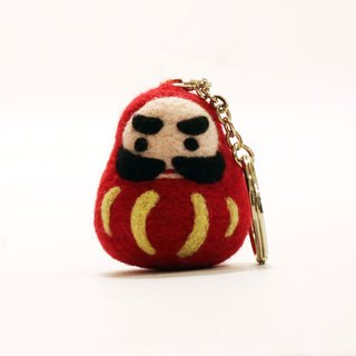 Q version Hongyun Tathagata ruby ​​wool felt key ring