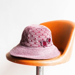 River Hill - sweet berries love Japan Sapporo wool plaid knit antique lady hat picture hat / cloche hat retro ladies