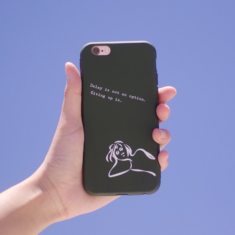 Don't give up and give up - iPhone case / dark green all-inclusive matte soft shell