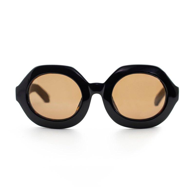 六邊形經典板材墨鏡∣UV400太陽眼鏡-玳瑁亮面