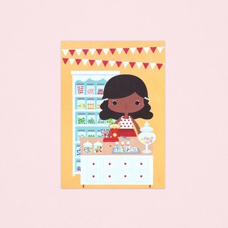 [Girls and Their Shops] mandy's candy shop - Postcard