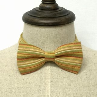 Retro orange green striped tie Bow Tie Stripe manual shooting performance props