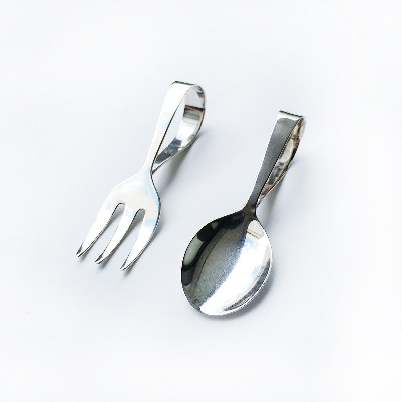 British 925 sterling silver styling handmade spoon fork set | 925 silver British Seiko hand-made ceremony