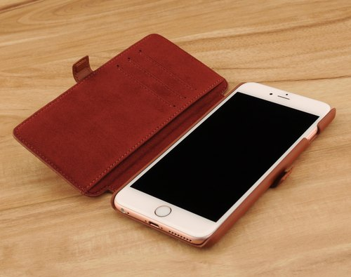 STORYLEATHER customized iPhone 6 plus / 6S plus (5.5 inches) Style i6P7 crust side-to-side woven leather case