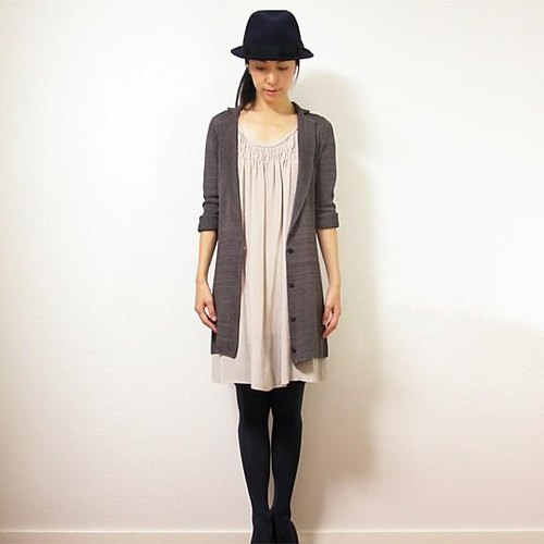 Perseus [Perseus] Tailored Long jacket / Deep Forest Grey