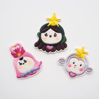 Cute I Sailor Girl Embroidered Embroidery Embroidery Patch/Set of 3