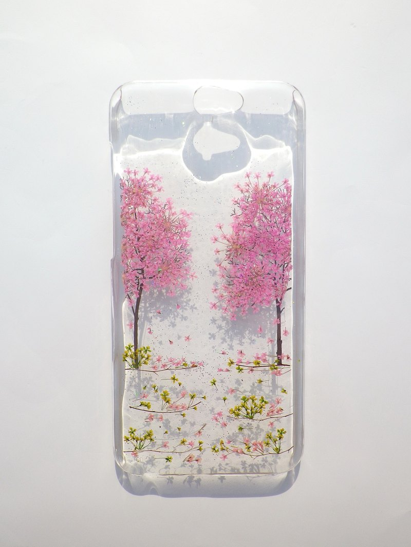 Pressed flower phone case, HTC one A9, Cherry blossoms season