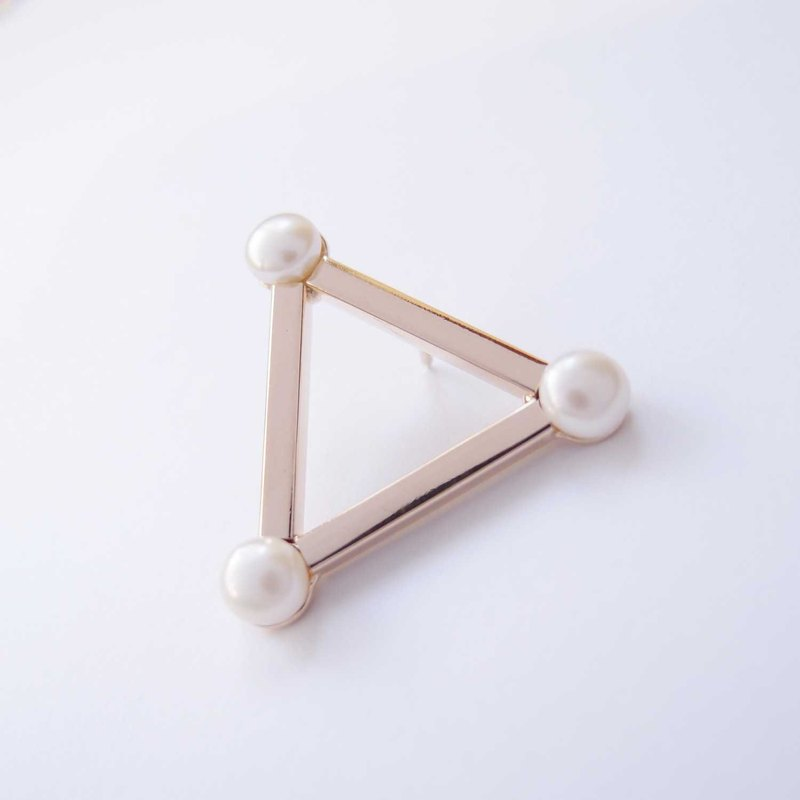 Triangle Law Pearl brooch