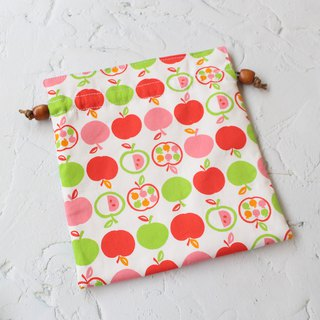 Illustration apple bundle pocket storage bag cosmetic bag