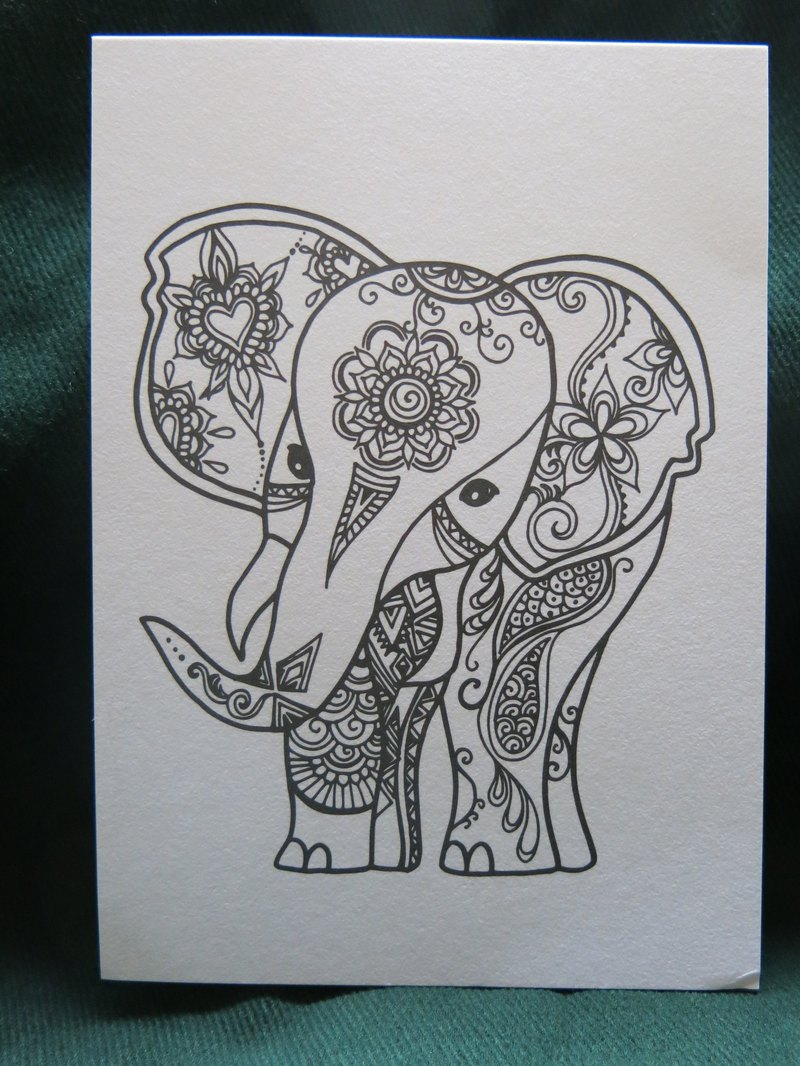 LOVE ELEPHANT postcard