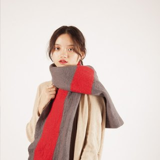 Ke people original design scarves female spring and autumn long section collar warm and handmade pure wool shawl Arts Day