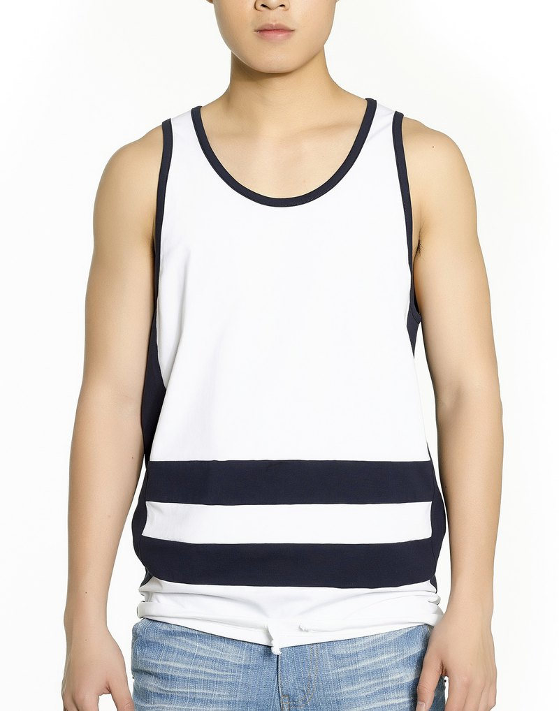 Colorblock Tank Top (White)