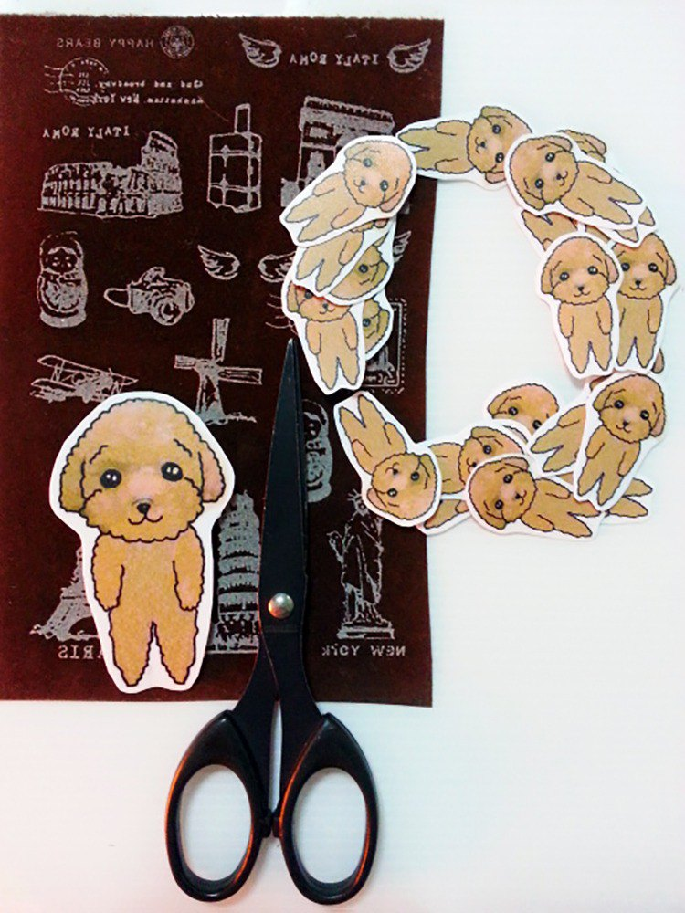 Poodle sticker set / waterproof