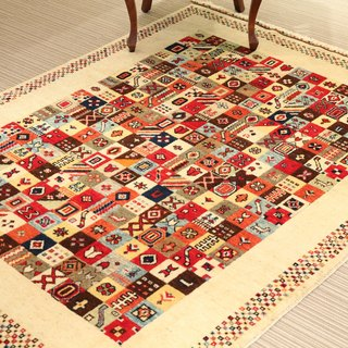 Handmade carpet Turkish rug wool natural 203×158cm