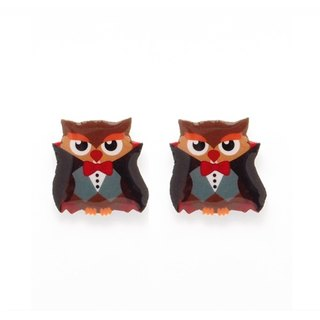 Fox Garden Hand-made Halloween Series: Earl Count OWL earrings / ear clips / earrings party must specify if no specified transparent ear clip shipping